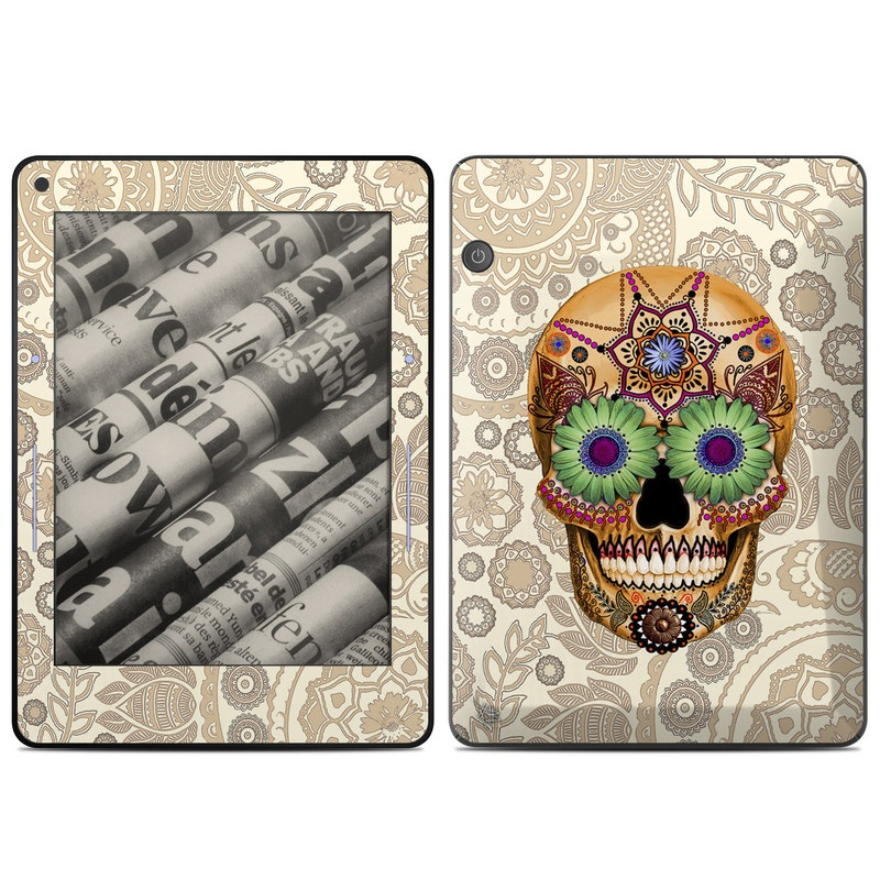 Sugar Skull Bone Amazon Kindle Voyage Skin