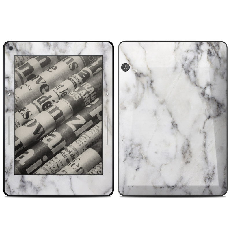 White Marble Amazon Kindle Voyage Skin