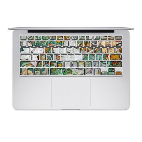 Sangria Flora MacBook Pre 2016 Keyboard Skin