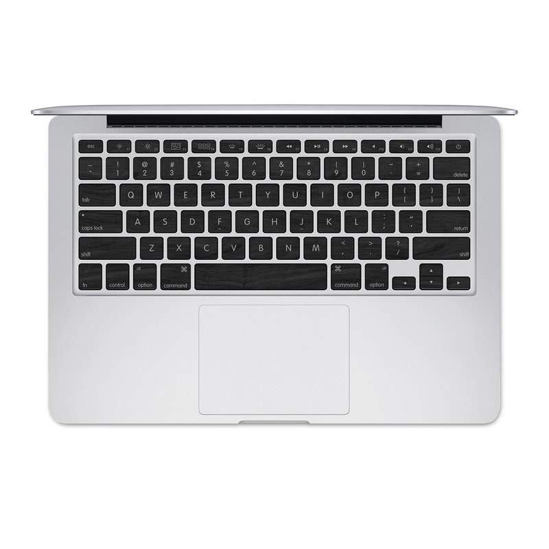 Black Woodgrain MacBook Pre 2016 Keyboard Skin