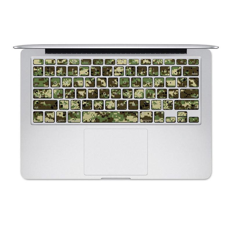 Digital Woodland Camo MacBook Pre 2016 Keyboard Skin