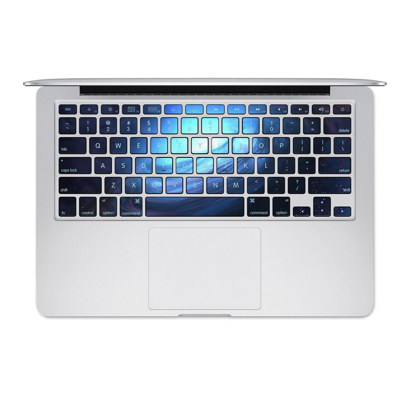 MacBook Pre 2016 Keyboard Skin design of Blue, Outer space, Light, Sky, Atmosphere, Space, Universe, Astronomical object, Darkness, Graphics with black, blue, purple colors