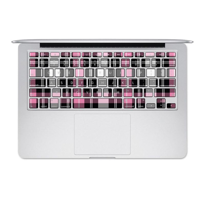 Pink Plaid MacBook Keyboard Skin