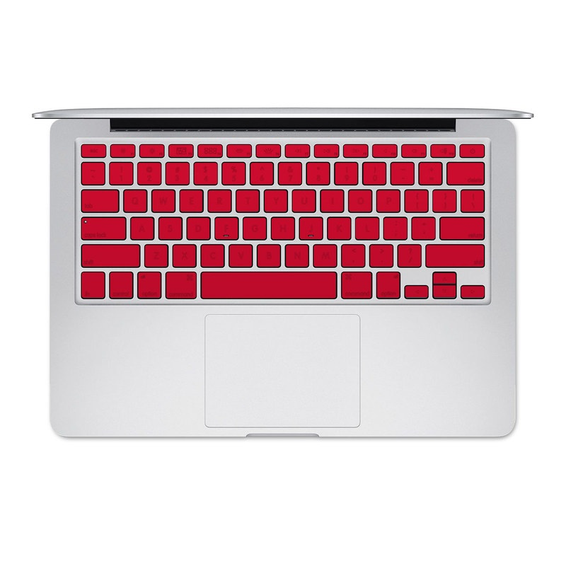 MacBook Pre 2016 Keyboard Skin design of Red, Pink, Maroon, Purple, Orange, Violet, Magenta, Material property, Font, Peach with red colors