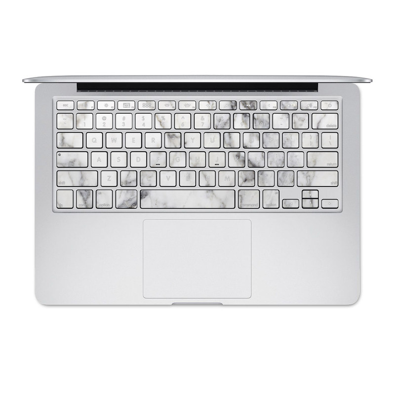 White Marble MacBook Pre 2016 Keyboard Skin