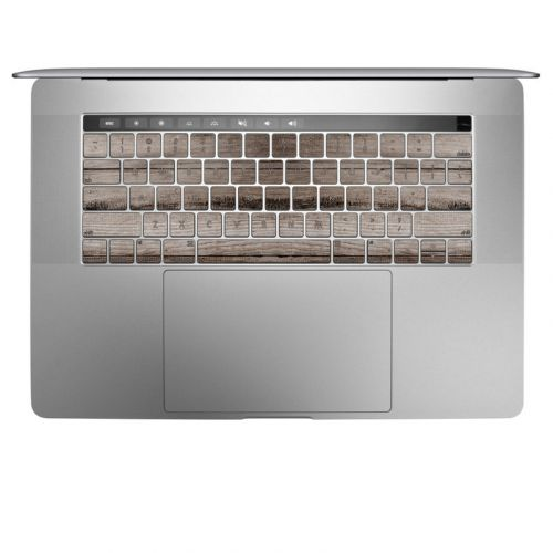 Barn Wood MacBook Keyboard Skin