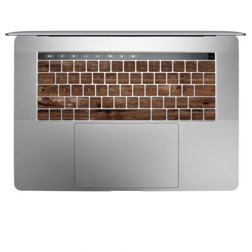 Stripped Wood MacBook Keyboard Skin