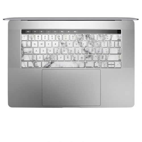 White Marble MacBook Pro Pre 2020 Keyboard Skin