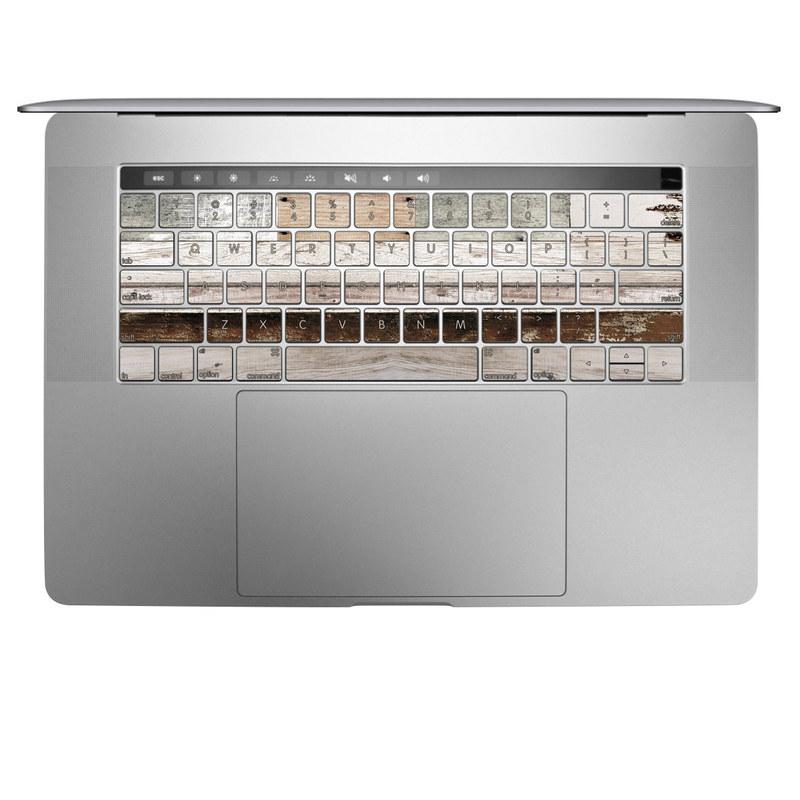 Eclectic Wood MacBook Keyboard Skin