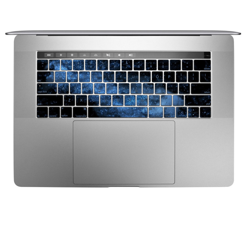 MacBook Keyboard Skin design of Sky, Atmosphere, Black, Blue, Outer space, Atmospheric phenomenon, Astronomical object, Darkness, Universe, Space with black, blue colors