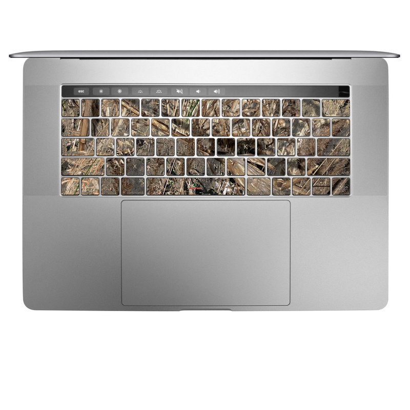 MacBook Keyboard Skin design of Soil, Plant with black, gray, green, red colors