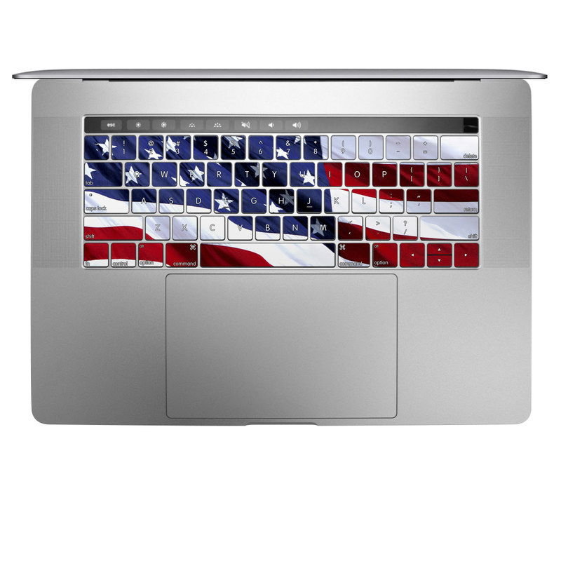 MacBook Keyboard Skin design of Flag, Flag of the united states, Flag Day (USA), Veterans day, Memorial day, Holiday, Independence day, Event with red, blue, white colors