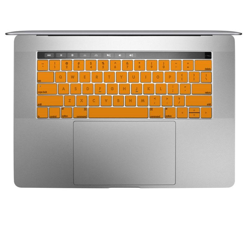 MacBook Keyboard Skin design of Orange, Yellow, Brown, Text, Amber, Font, Peach with orange colors