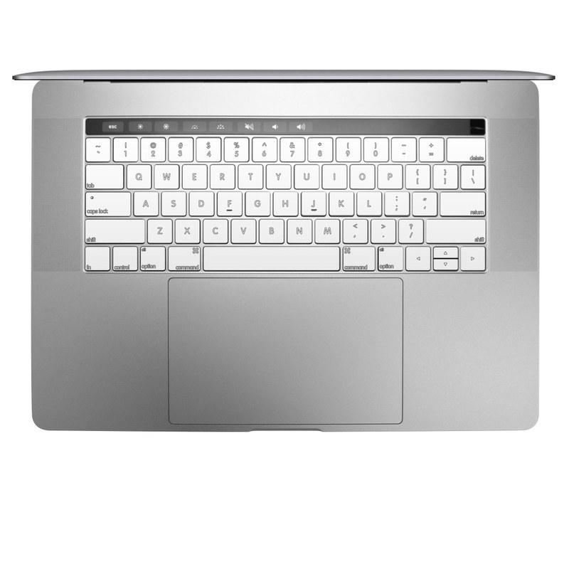 Solid State White MacBook Keyboard Skin