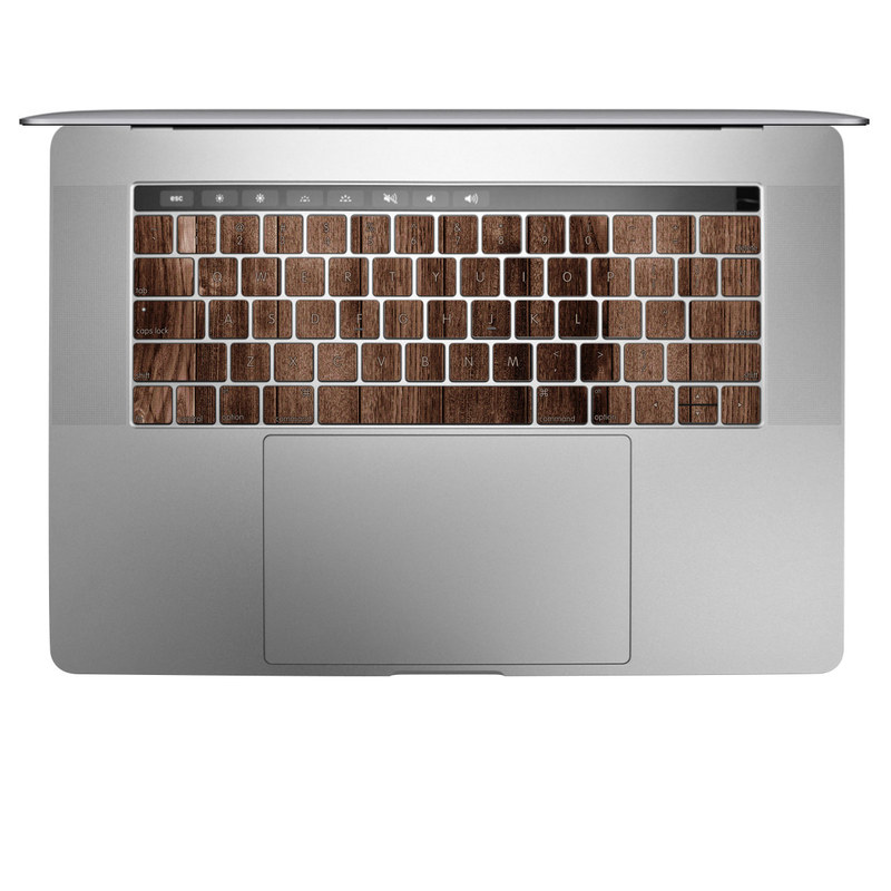 MacBook Keyboard Skin design of Wood, Wood flooring, Hardwood, Wood stain, Plank, Brown, Floor, Line, Flooring, Pattern with brown colors
