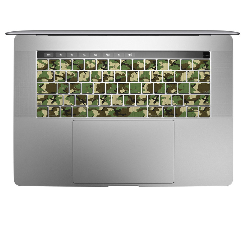 MacBook Keyboard Skin design of Military camouflage, Camouflage, Clothing, Pattern, Green, Uniform, Military uniform, Design, Sportswear, Plane with black, gray, green colors