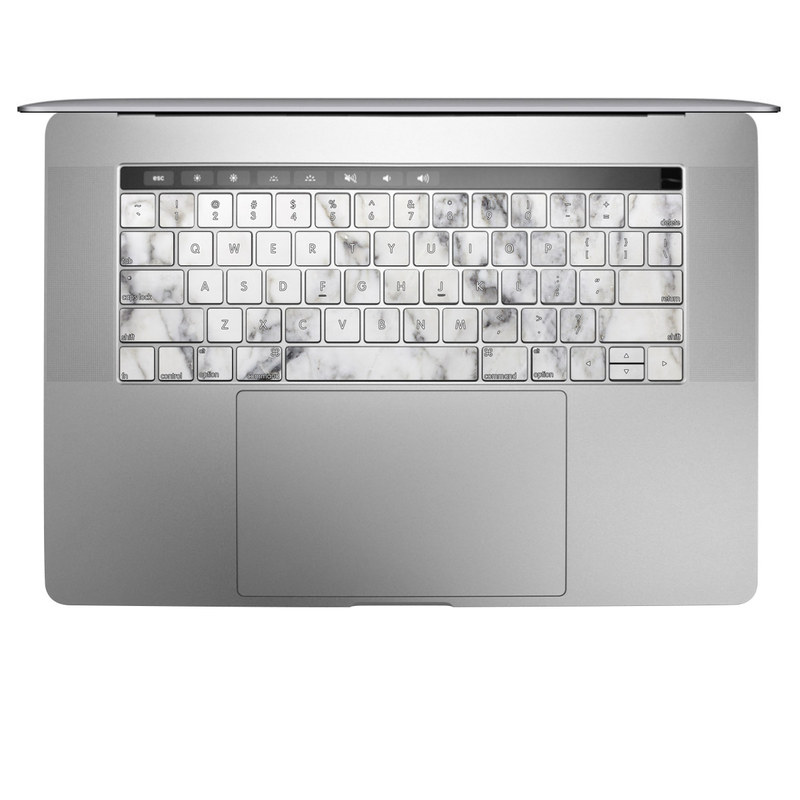 MacBook Keyboard Skin design of White, Geological phenomenon, Marble, Black-and-white, Freezing with white, black, gray colors