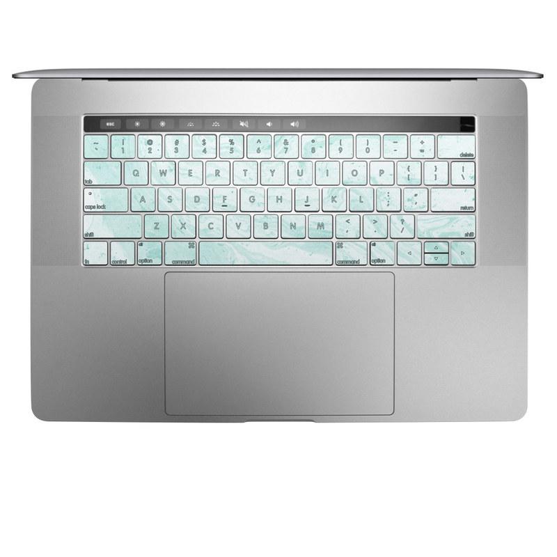 Winter Green Marble MacBook Keyboard Skin