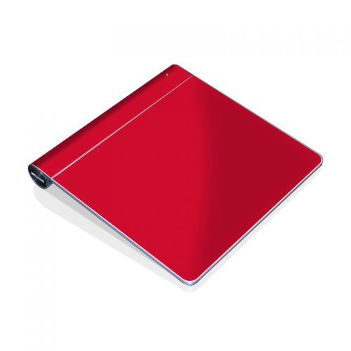 Solid State Red Apple Magic Trackpad Skin