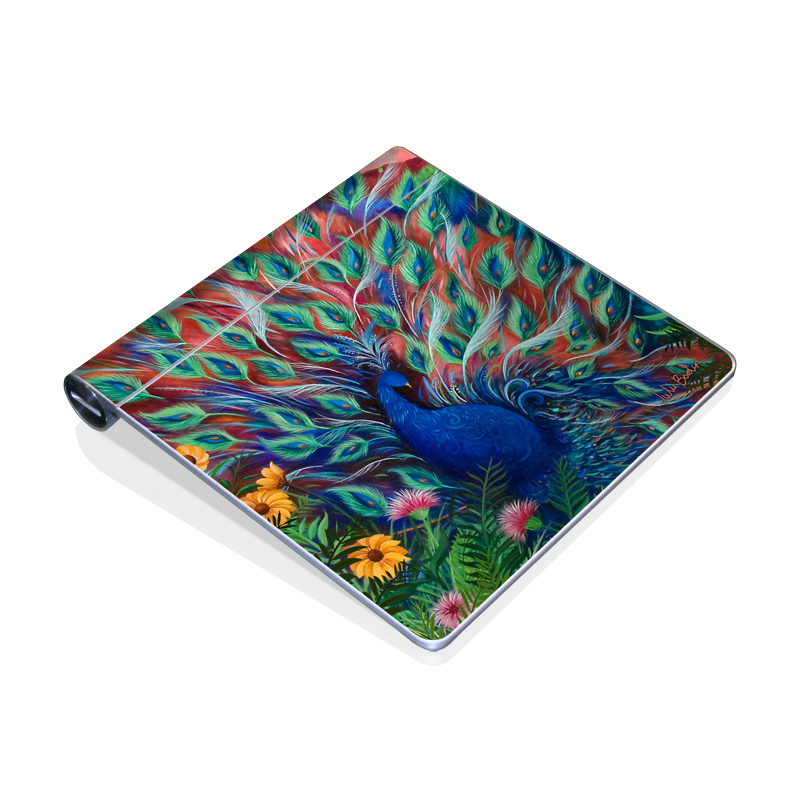 Coral Peacock Apple Magic Trackpad Skin