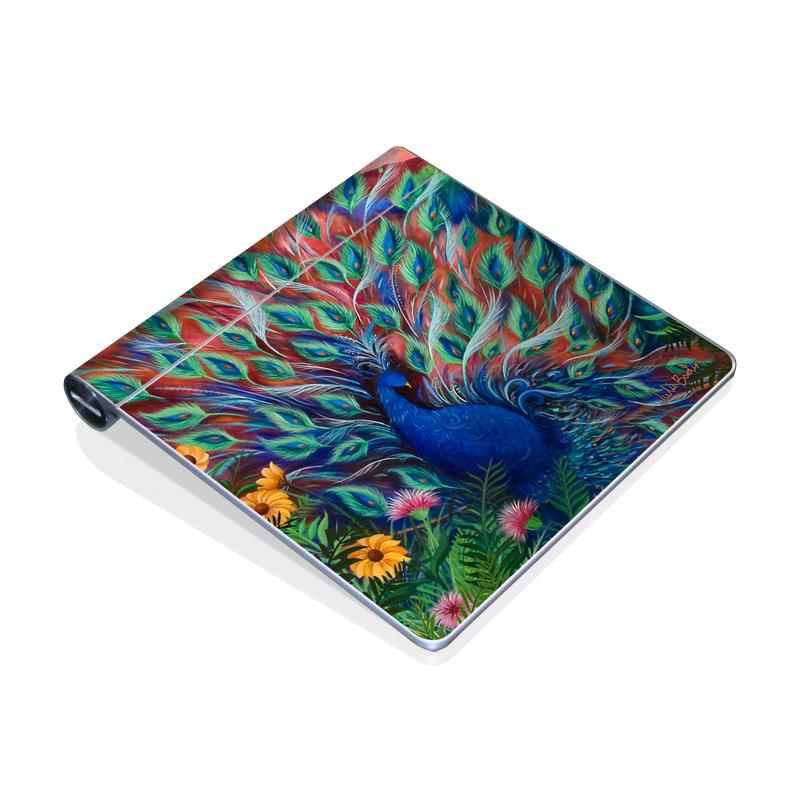 Coral Peacock Apple Magic Trackpad Skin
