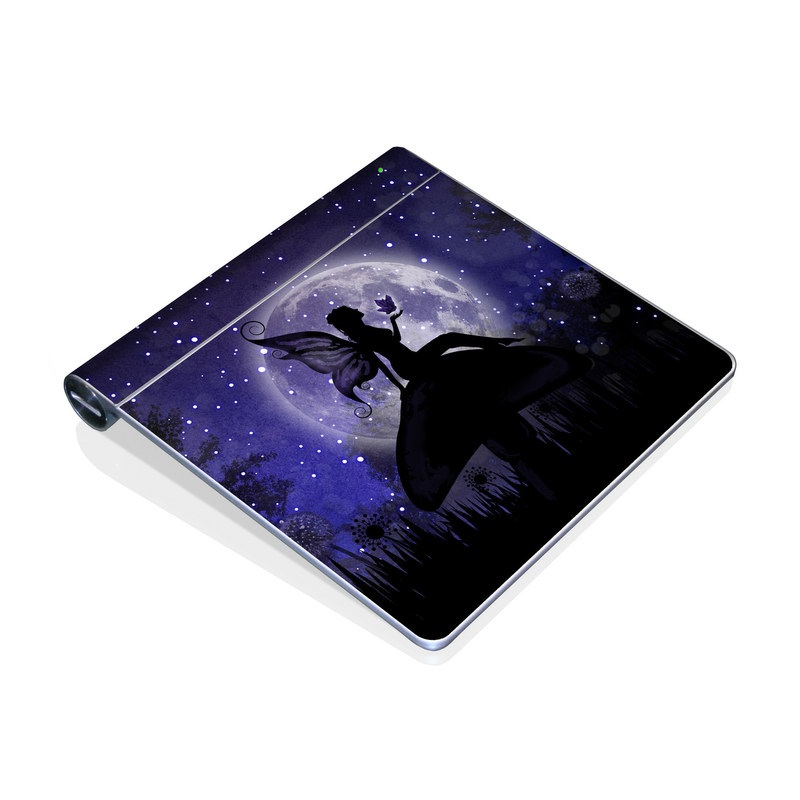 Apple Magic Trackpad Skin design of Purple, Sky, Moonlight, Cg artwork, Fictional character, Darkness, Night, Illustration, Space, Star with black, blue, gray, purple colors