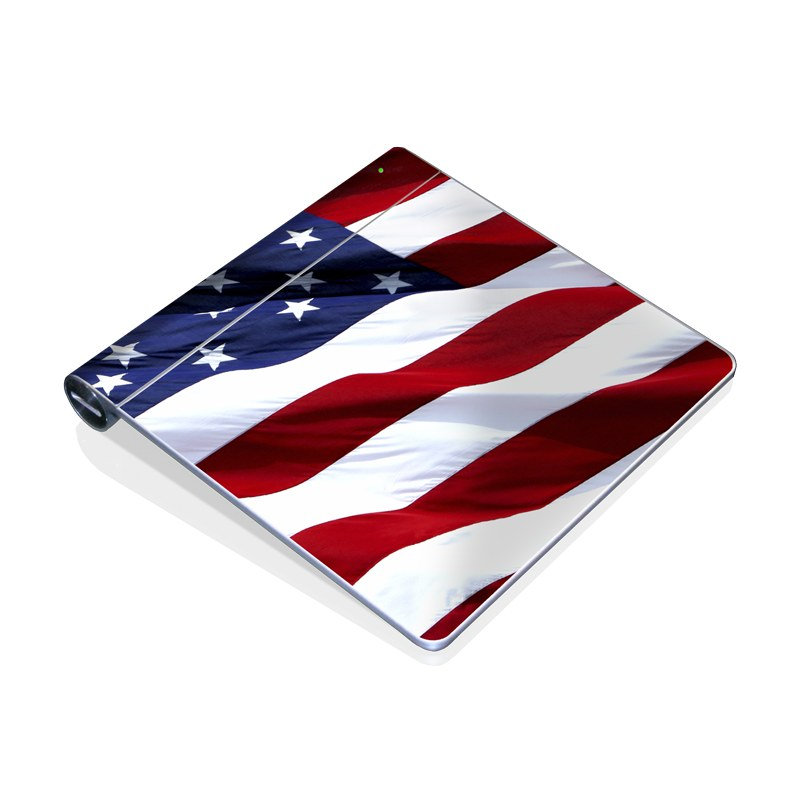 Apple Magic Trackpad Skin design of Flag, Flag of the united states, Flag Day (USA), Veterans day, Memorial day, Holiday, Independence day, Event with red, blue, white colors
