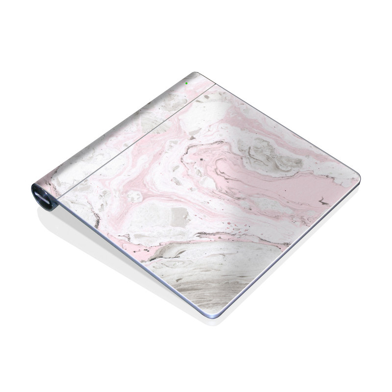 Apple Magic Trackpad Skin design of White, Pink, Pattern, Illustration with pink, gray, white colors