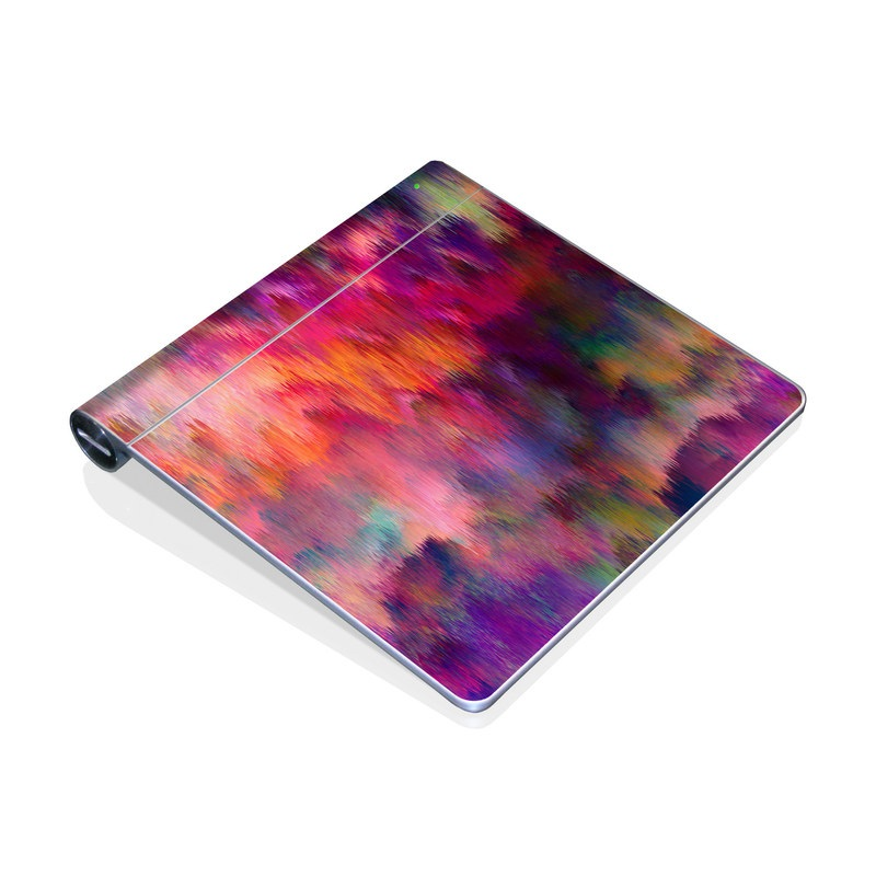 Apple Magic Trackpad Skin design of Sky, Purple, Pink, Blue, Violet, Painting, Watercolor paint, Lavender, Cloud, Art with red, blue, purple, orange, green colors