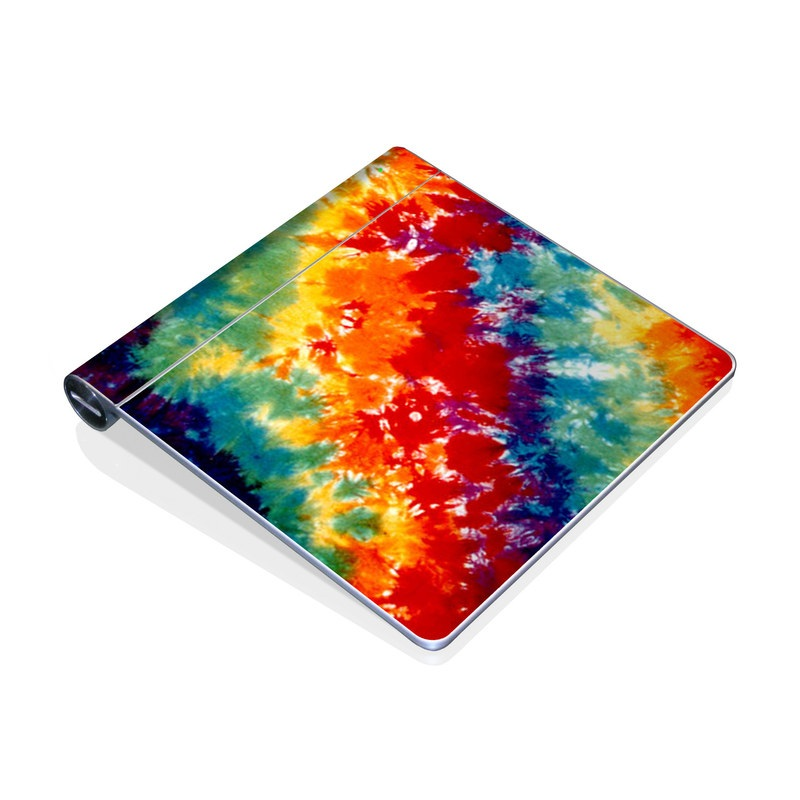 Apple Magic Trackpad Skin design of Orange, Watercolor paint, Sky, Dye, Acrylic paint, Colorfulness, Geological phenomenon, Art, Painting, Organism with red, orange, blue, green, yellow, purple colors