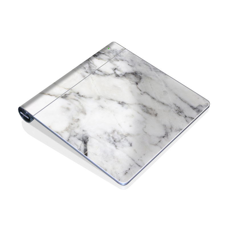 Apple Magic Trackpad Skin design of White, Geological phenomenon, Marble, Black-and-white, Freezing with white, black, gray colors
