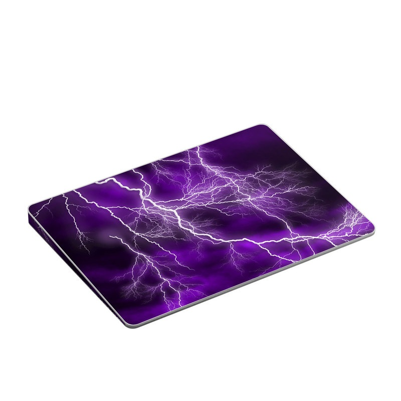 Apple Magic Trackpad 2 Skin design of Thunder, Lightning, Thunderstorm, Sky, Nature, Purple, Violet, Atmosphere, Storm, Electric blue with purple, black, white colors
