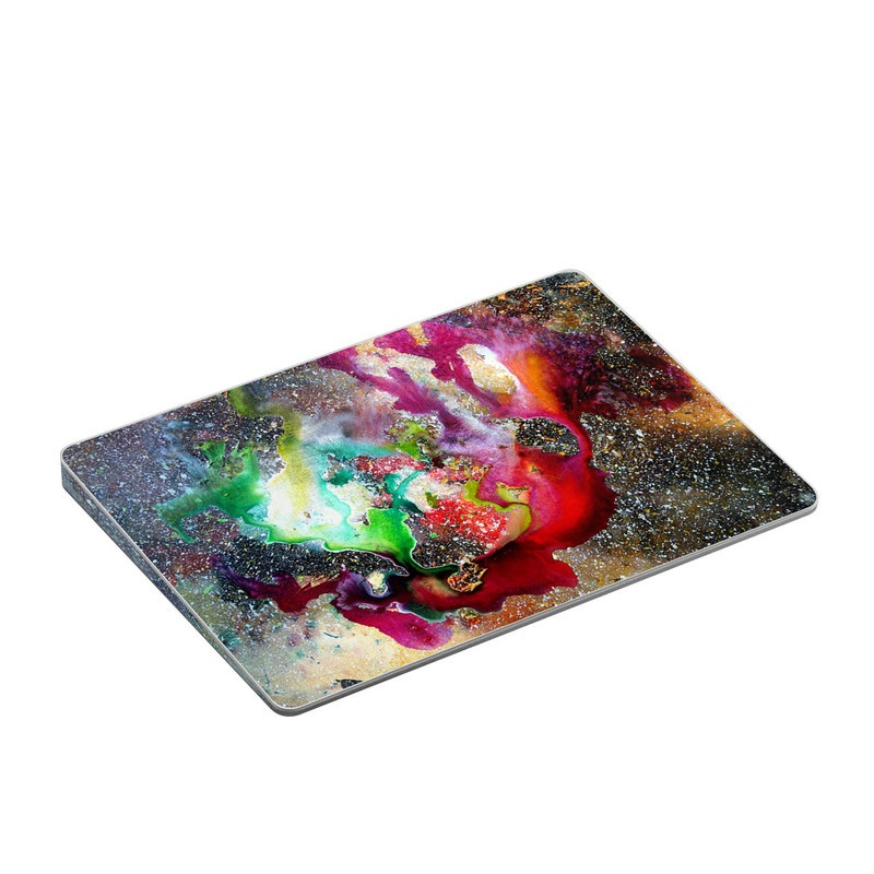 Apple Magic Trackpad 2 Skin design of Organism, Space, Art, Nebula, Rock with black, gray, red, green, blue, purple colors