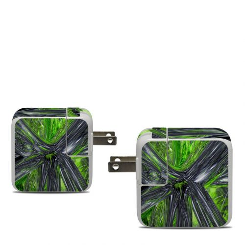 Emerald Abstract Apple 30W USB-C Power Adapter Skin