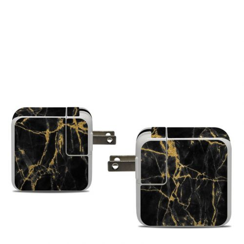 Black Gold Marble Apple 30W USB-C Power Adapter Skin