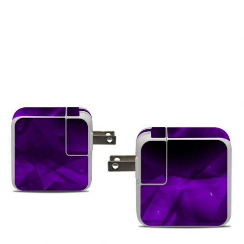 Dark Amethyst Crystal Apple 30W USB-C Power Adapter Skin