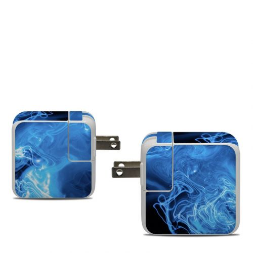 Blue Quantum Waves Apple 30W USB-C Power Adapter Skin