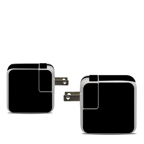 Solid State Black Apple 30W USB-C Power Adapter Skin