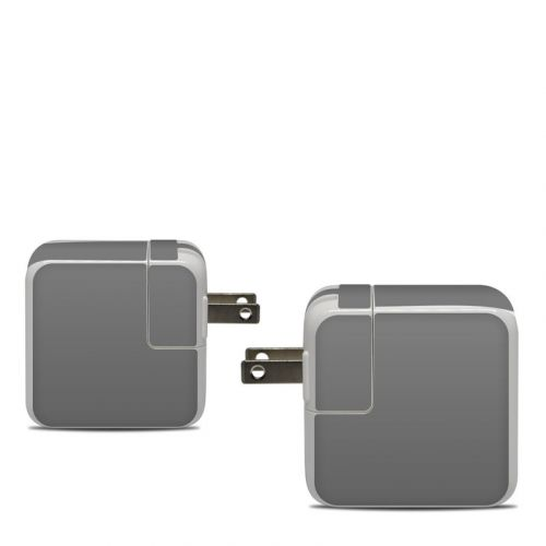 Solid State Grey Apple 30W USB-C Power Adapter Skin