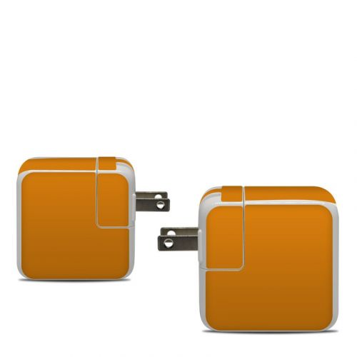 Solid State Orange Apple 30W USB-C Power Adapter Skin
