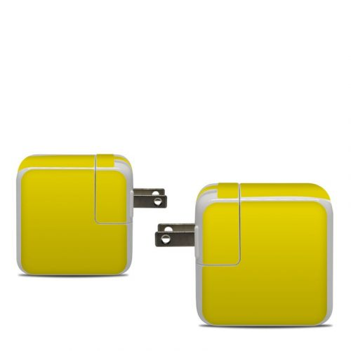 Solid State Yellow Apple 30W USB-C Power Adapter Skin