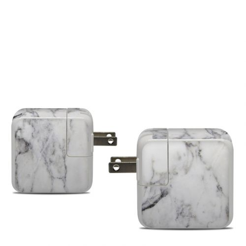 White Marble Apple 30W USB-C Power Adapter Skin