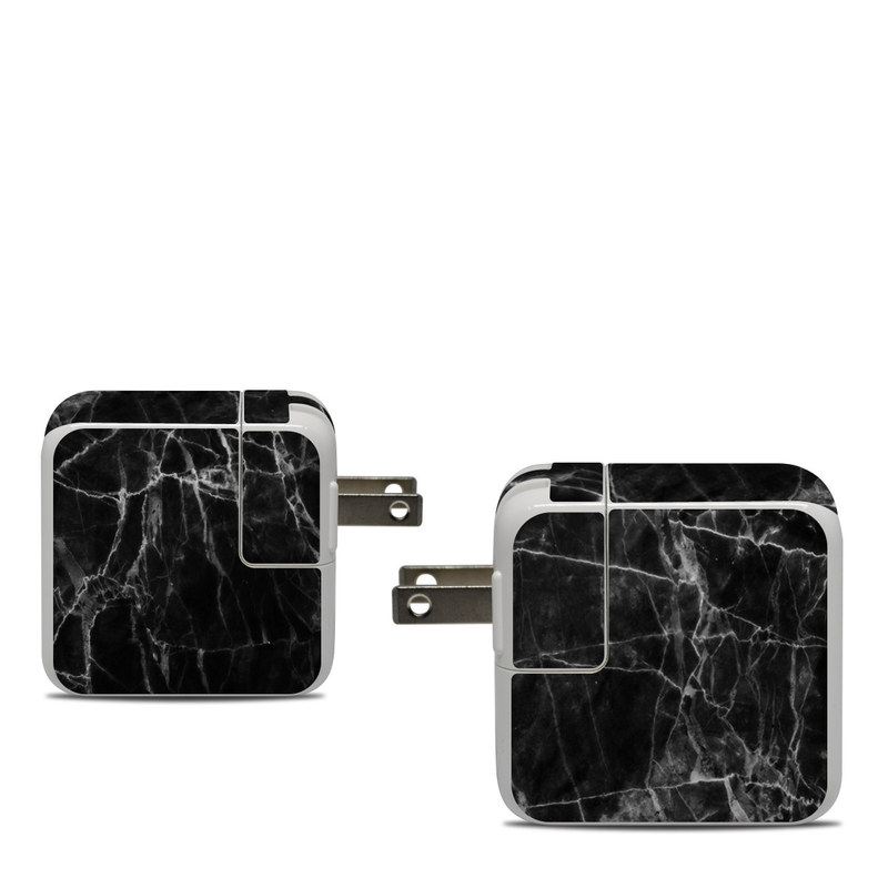 Apple 30W USB-C Power Adapter Skin design of Black, White, Nature, Black-and-white, Monochrome photography, Branch, Atmosphere, Atmospheric phenomenon, Tree, Sky with black, white colors