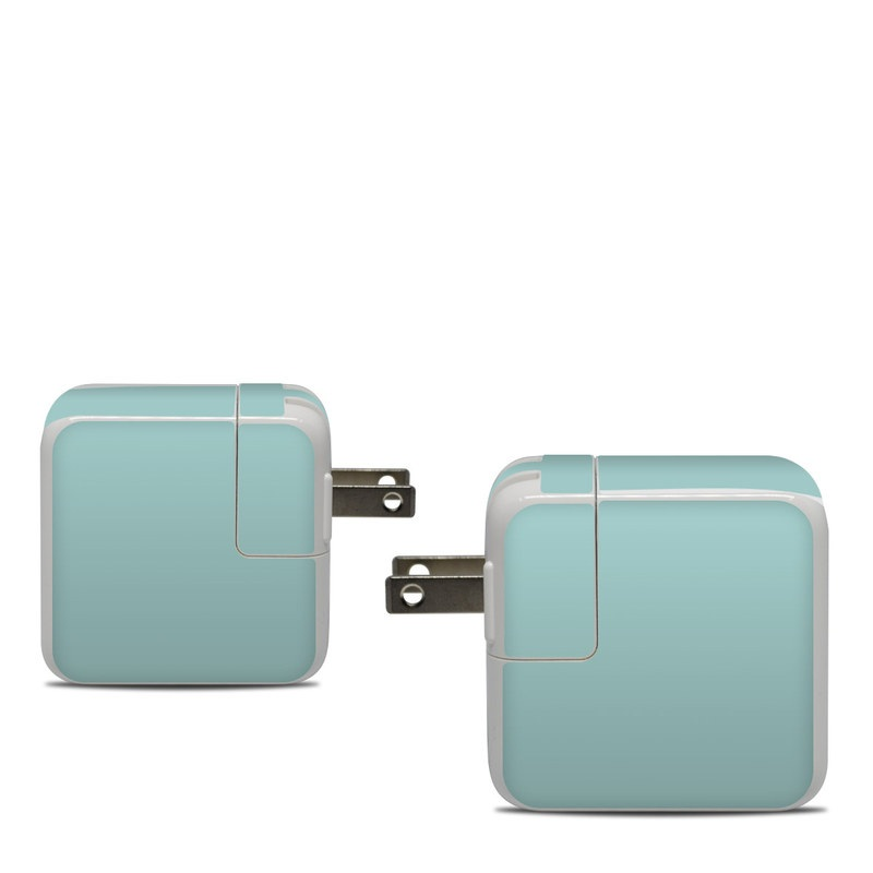 Apple 30W USB-C Power Adapter Skin design of Green, Blue, Aqua, Turquoise, Teal, Azure, Text, Daytime, Yellow, Sky with blue colors