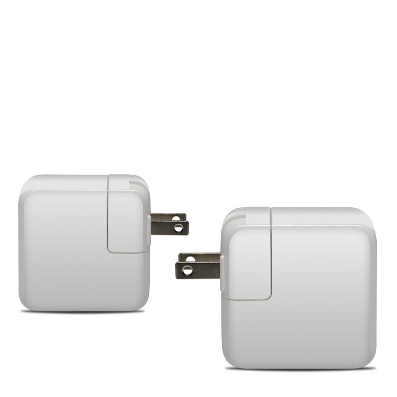 Apple 30W USB-C Power Adapter Skin design of White, Black, Line with white colors