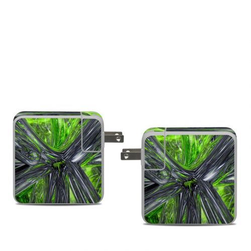 Emerald Abstract Apple 61W USB-C Power Adapter Skin