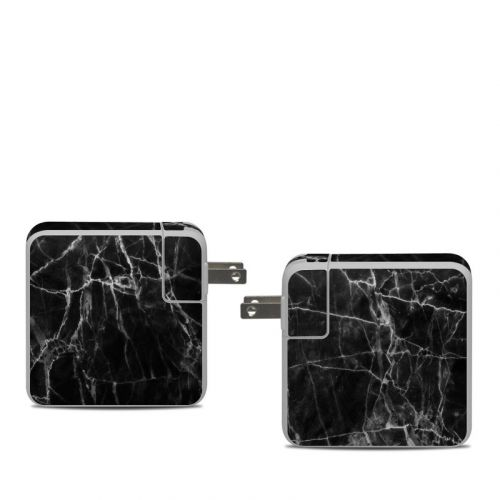 Black Marble Apple 61W USB-C Power Adapter Skin