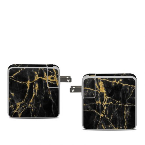 Black Gold Marble Apple 61W USB-C Power Adapter Skin