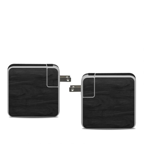 Black Woodgrain Apple 61W USB-C Power Adapter Skin