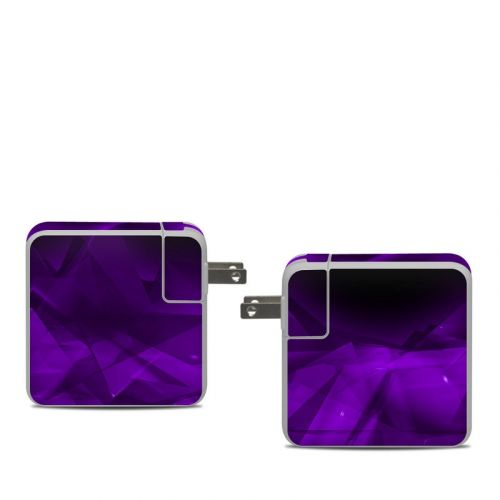Dark Amethyst Crystal Apple 61W USB-C Power Adapter Skin
